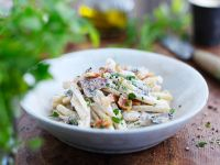 Pasta with Pancetta and Mushrooms recipe