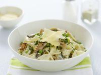 Pasta with Peas, Pancetta and Mushroom recipe