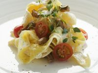 Pasta with Pork and Goat Cheese recipe