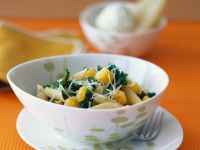 Pasta with Pumpkin and Kale recipe