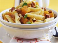 Pasta with Pumpkin and Nuts recipe