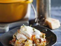 Pasta with Salmon and a Poached Egg recipe