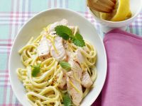 Pasta with Salmon and Lemon Balm Sauce recipe