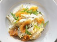 Pasta with Salmon and Ricotta-orange Sauce recipe