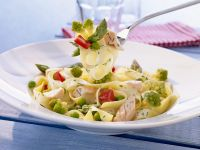 Pasta with Salmon and Vegetables recipe