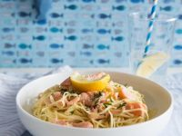 Pasta with Salmon Sauce recipe