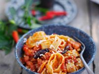 Pasta with Spicy Tomato Sauce recipe