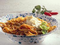 Pasta with Spicy Tomato Sauce recipe
