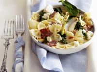 Pasta with Spinach, Feta Cheese and Bacon recipe