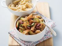 Pasta with Summer Squash and Beans recipe