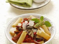 Pasta with Sun-Dried Tomatoes, Eggplant and Capers recipe