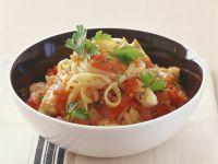 Pasta with Tomato Chicken Stew recipe