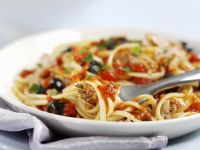Pasta with Tomatoes, Olives and Tuna recipe