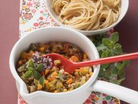 Pasta with Vegetable Bolognese recipe