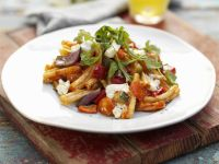 Pasta with Vegetables and Feta recipe