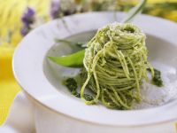 Pasta with Wild Garlic Pesto recipe
