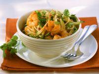 Pasta with Zucchini and Shrimp Sauce recipe