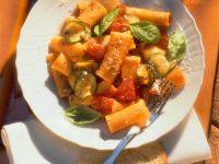 Pasta with Zucchini and Tomato Sauce recipe