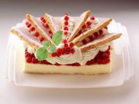 Pastry Custard Torte with Redcurrants recipe