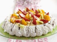 Fruit Topped Pavlova recipe