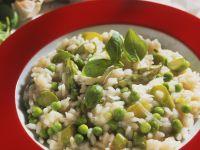 Pea and Asparagus Risotto recipe