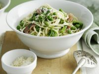 Pea and Ham Pasta Bowl recipe
