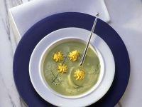 Pea and Sorrel Soup with Potato Garnish recipe
