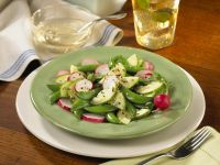 Pea, Cucumber, and Radish Salad with Sesame Seeds recipe
