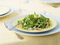 Pea Shoot Salad with Peas and Crabmeat recipe