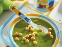 Pea Soup with Lime and Cilantro