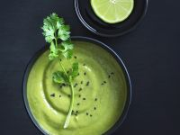 Pea Soup with Lime and Cilantro recipe