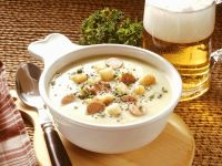Pea Soup with Sausages recipe