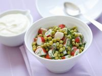 Pea-surimi Salad with Dill recipe