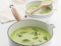 Pea Veloute with Herbs recipe