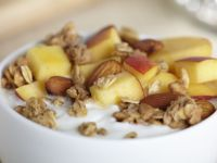 Peach and Almond Granola over Greek Yogurt recipe