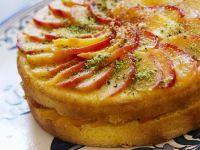 Peach and Pistachio Cake recipe