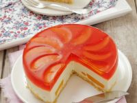 Peach Jelly Cream Cheese Gateau recipe