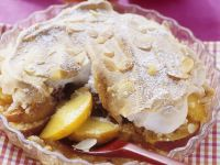 Peach Marzipan Meringue Pudding recipe
