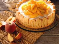 Peach Mascarpone Torte recipe