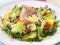 Peach, Prosciutto and Parmesan Garden Salad recipe