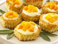 Peach Puff Pastry Bites recipe