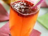 Peach-Raspberry Rum Cocktail recipe