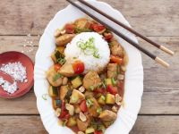 Peanut and Pineapple Chicken Stir-fry with Rice recipe