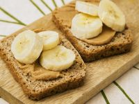Peanut Butter and Banana Slices recipe