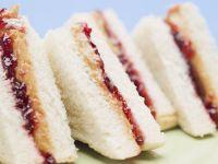 Peanut Butter and Grape Jelly Finger Sandwiches recipe