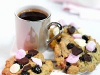 Peanut Butter, Chocolate and Marshmallow Cookies recipe