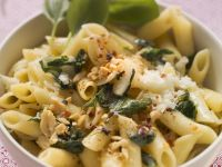 Peanut-topped Penne with Basil recipe