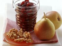 Pear and Blackberry Jam with Walnuts recipe