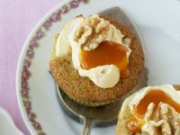 Pear and Cornmeal Cupcakes with Mascarpone Cream recipe