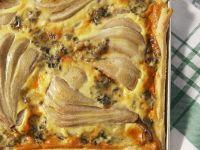 Pear and Gorgonzola Quiche recipe